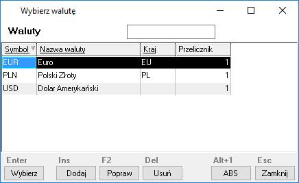 af42528cca5178 Aby pobrać kolejne tabele kursów należy w oknie Kursy walut. przycisnąć  przycisk Pobierz kursy lub użyć skrótu klawiaturowego [Ctrl+P].